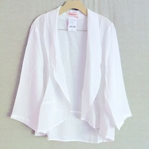Fresh Produce White Circle Cardigan
